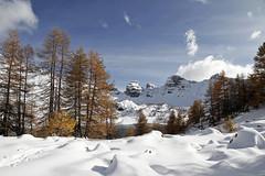 Une avalanche d'émotions (Emmanuelle2Aime2Ailes) Tags: paysage neige lac allos parcdumercantour lacdallos montagne alpesdehauteprovence
