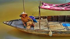 Posing for $$$ (gerard eder) Tags: world travel reise viajes asia southeastasia vietnam centralvietnam hoian paisajes panorama people peopleoftheworld boats boote barcas women wasser water river outdoor