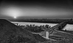 Nizhny Novgorod / Нижний Новгород (dmilokt) Tags: город city town река river пейзаж landscape dmilokt чб bw черный белый black white