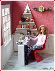 17.advent day - advent calendar with dolls (Mary (Mária)) Tags: barbie doll christmas christmastree advent holiday shelf retro tree fashionistas interior diorama handmade jamesbond drno mattel marykorcek