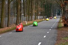Velomobiles. (wimjee) Tags: nikond7200 nikon d7200 afsdx1680mmf284eedvr wandeling hike meinweg natuurgebied nationaalpark park herkenbosch limburg nederland lyceumschöndeln oop velomobile ligfiets fiets bike
