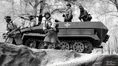 Russian Winter (WesternOutlaw) Tags: stalingrad toysoldiers 130scale 130 kingcountry kingandcountry russianfront easternfront wehrmacht hanomag