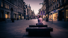 The parts of herself that will bring you down (Jim Nix / Nomadic Pursuits) Tags: europe glasgow jimnix lightroom nomadicpursuits olympus olympusomdem1 scotland cityscape contemplation girl photography shopping sitting streetscene travel