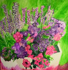 Impressionist Flowers (LisaLawlor7) Tags: acrylic flowers painting artwork