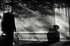 Shopping Done (Bury Gardener) Tags: bw blackandwhite britain monochrome mono cambridgeshire cambridge england uk streetphotography street streetcandids snaps strangers candid candids people peoplewatching folks