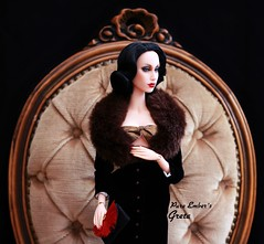 So evil my love (pure_embers) Tags: pure embers doll dolls uk pureembers photography laura england superdoll sybarite onyx greta embersgreta portrait 40s style dita classic elegant fashion collector vintage pinup outfit soevilmylove madra lord black elegance