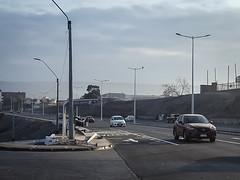 Choque en Luminarias nuevas (muniarica) Tags: arica chile muniarica luminarias choque accidente automovilista ebriedad costanera transito alcalde gerardoespíndola secplan dipreseh