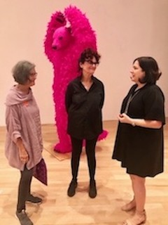 In conversation: Paula Pivi's exhibit at The Bass. The artist with Sylvia Karman, museum Director and Liana Perez, artcircuits.com Publisher