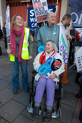 HOFFMAN_NHS_MARCH_070303_033 (hoffman) Tags: activism activist affliction banner british britishisles campaign campaigner campaigning crowd daylight demo demonstrate demonstrater demonstrating demonstration demonstrator disability disabled disablement disorder ec eec england english eu europe europeanunion female governmentservices greatbritain group handicap handicapped health lady march marching midwives nhs nurses outdoors people placard protest protesting street uk unitedkingdom vertical walking wheelchair woman workers london