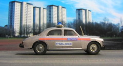 Corgi Toys Riley Pathfinder Police No. 209 Built From 1958 - 1962 Restored And Converted Into A Modern London Metropolitan Police Car : Diorama British Tower Blocks - 15 Of 23 (Kelvin64) Tags: corgi toys riley pathfinder police no 209 built from 1958 1962 restored and converted into a modern london metropolitan car diorama british tower blocks