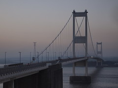 Severn Bridge After Sunset (cycle.nut66) Tags: severn bridge twilight suapension 1966 steel dusk river water towers road m48 crossing autumn olympus epl1 evolt micro four thirds mzuiko