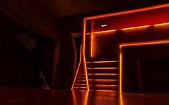 optische Täuschung  Treppenhaus der Zeche Zollverein (gabrieleskwar) Tags: zeche zollverein essen farbe formen lichter stufen farben wände treppen