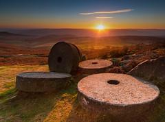 Millstones Sunset (Phil West) Tags: derbyshire peakdistrict stanage sunset gritstone millstone millstones cloud clouds glow golden goldenhour