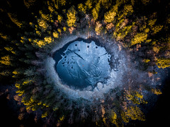 (Svein Skjåk Nordrum) Tags: dji djiair perspective ice frozen winter drone smallforestlake lillomarka oslo aerial above forest lake mavicair explore explored pond