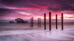 Brighton West Pier (ed027) Tags: ifttt 500px sunset dusk jetty dawn sunrise twilight pier riverbank boardwalk macarthur causeway bridge boat daybreak seascape coastline colourful long exposure city beautiful brighton abandoned sundown pink purple wave peaceful serene tourism calm night vivid