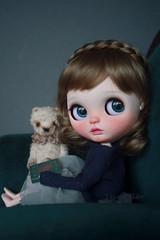 Sofie (umami_baby) Tags: artdoll blythe brunette bob customblythe customizeddoll doll dollhouse etsy fashiondoll freckles faceup ooak ooakblythe ooakdoll umamibaby ufoagogo sofie