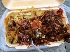 Jerk in da Park, Waterloo Millennium Green, Lambeth, London SE1 7BE (bellaphon) Tags: jamaicanfood jamdown oxtailstew oxtail redsnapper riceandpeas soulfood streetfood waterloo jerkindapark
