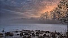Coming soon.... (Steve InMichigan) Tags: winterscene wintermorning winterlandscape winter lake lakesunrise frozenlake