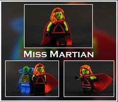Miss Martian (-Metarix-) Tags: lego super hero minifig custom miss martian manhunter mars alien dc comics comic decal