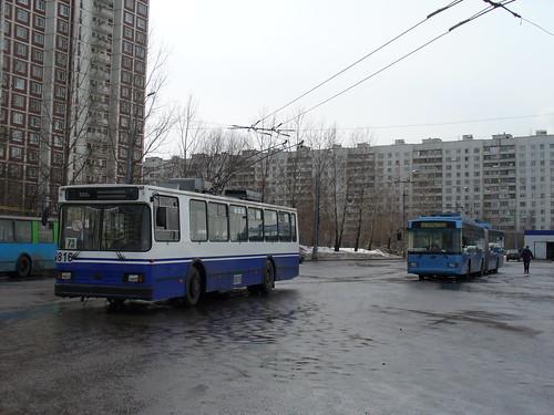 6816_20060330_059 Moscow trolleybus BKM-201 Biberevo ©  Artem Svetlov