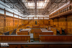 Disused Courtroom (Behind Closed Doors Urbex) Tags: nottingham guildhall court courtroom courthouse magistrates wood timber panel old historic decay disused forgotten abandoned ue urbex urbanexploration urbandecay urbanexplorer trespassing andyk bcd wwwbcdurbexcom behindcloseddoors