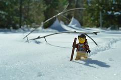 Joe n' Snow (031/365) (robjvale) Tags: 365the2019edition 3652019 day31365 31jan19 project365 nikon d3200 adventurerjoe lego snow trek trees cold winter