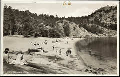 Postkort fra Agder (Avtrykket) Tags: strand badende postkort sjø strandliv grimstad austagder norway nor