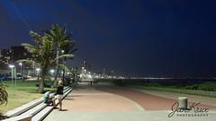 Durban (Jan-Krux Photography) Tags: durban kwazulunatal southafrica suedafrika indianocean indischer ozean meer sea beachfront strandpromenade travel reisen baeume tree palm palmtree hauser gebaeude buildings skyline evening abends lichter lights darkscape olympus omd em1mkii