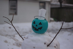(Theresa Best) Tags: theresabest canon760d canon canon8000d canont6s explorecreatewonder fmsphotoaday fmsphotoday wisconsin pumpkin blue winter snowman ice