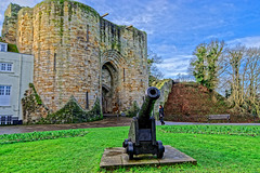 Cannon (Geoff Henson) Tags: castle fort battlement keep gate lawn grass sky cloud cannon gun relic ancient tree wall