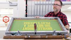 Screenprinting at MPK (scottboms) Tags: facebook analogresearchlab screenprinting silkscreen printing printmaking arl menlopark california scottboms