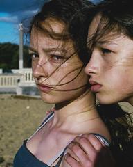 The stare (instagram: atya_35mm) Tags: fujifilm portrait colour beach girl nikon f3 35mm analogue film shootfilm closeup