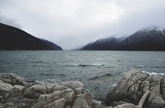 View from Yakutania (i threw a guitar at him.) Tags: alaska south east water mountains sky landscape nature lynn canal yakutania point klondike national park us rocks rock waves cloudy scenic distance think contemplate travel 2019 pacific northwest