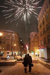 Happy New Year! (f_lynx) Tags: sonya9 sonyfe282 flynx fun couple fireworks shadows night city moscow russia arbat street color people girl man snow newyear