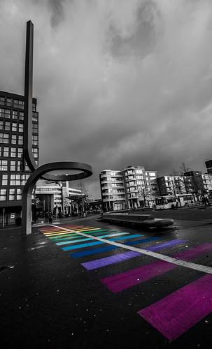 Follow the rainbow path