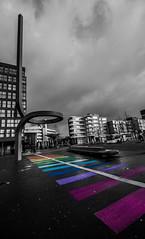 Follow the rainbow path (tomaszbaranowski007) Tags: lelystad rainbow selectivecolour selective wide angle holland nederland colour colours nikon d5500 nikond5500 sigma 1020