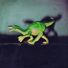 day 11 (Randomographer) Tags: project365 raptor night plastic tyrant lizard toy miniature theropod dinosaur model bipedal carnivore teeth terror monster powerful dangerous hungry clawed shadow flash processed photoshop saturated 11 2019