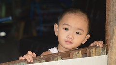 boy in a doorway (the foreign photographer - ฝรั่งถ่) Tags: jan92016nikon boy child doorway khlong bangkhen portraits bangkok thanon nikon d3200 happyplanet asiafavorites