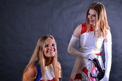 Elle and Emily Kiddy Grade Photoshoot Part 2 (Running Production) Tags: model photo photoshoot studio cosplay superheroine superhero animation anime dress comic con australia sydney woman women pantyhose stocking stockings gloves nylon satingloves satin