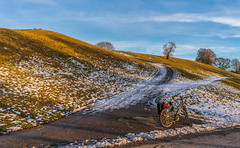 2019 Bike 180: Day 1, January 16 (suzanne~) Tags: 2019bike180 bike bicycle day1 munich germany bavaria olympicpark winter snow