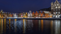 Bergen Houses (JusKlaud) Tags: bergen houses city norway historic old wooden unique water harbour nikonflickraward ngc bryggen