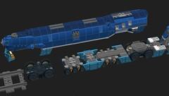 phthalo-awful-wheelbase (Cagerrin) Tags: lego system technic train locomotive engine steamlinemoderne ldd legodigitaldesigner