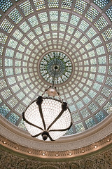 Chicago Cultural Center - Tiffany Dome (MichellePhotos2) Tags: chicago cultural center chicagoculturalcenter illinois architecture nikon d850 nikond850 prime 20mm interior staircase dome tiffany tiffanydome chandelier stainedglass stained glass loop landmark prestonbradleyhall mosaic arches renaissance
