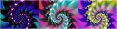 Three-Way Movement (bloorose-thanks 4 all the faves!!) Tags: ultrafractal uf fractal spirals triptych digital art abstract
