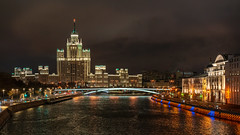 Moscow night (©Andrey) Tags: moscow night russia capital street history outdoor light dark a7rii cold people sel55f18z sonnartfe1855