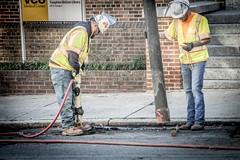 The Jackhammer (Airborne Guy) Tags: worker crew construction repair street jackhammer hardhat richmond virginia maintenance road pothole dig