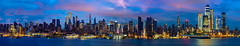 Panorama and cityscape of New york city night (anekphoto) Tags: new york city skyline night river manhattan midtown panorama dusk hudson panoramic building urban sky light cityscape travel architecture office usa reflection state evening america landmark skyscraper view square times business nyc scene scenic empire harbor jersey metropolitan twilight blue buildings east illuminated color red modern water colorful over skyscrapers