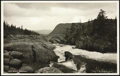 Postkort fra Agder (Avtrykket) Tags: bro buebro elv postkort vassdrag bykle austagder norway nor