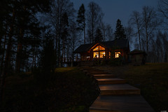 The cottage (Rico the noob) Tags: dof night d850 landscape nature outdoor urbanexploration trees urban tree travel house grass sky published 2018 20mmf18 20mm finland