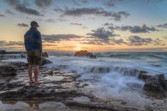 Letting Go DSC_1401 (BlueberryAsh) Tags: sandybeach sandybeachsunrise sunrise oahu hawaii longexposure ocean seascape water beach rocks cloudsstormssunsetssunrises clouds